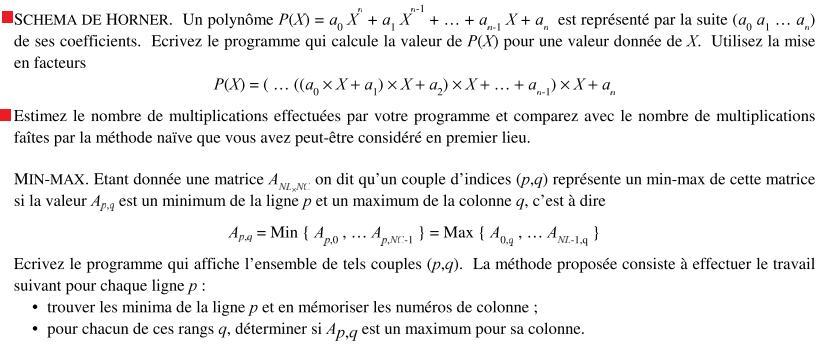 Exercice langage C corrigé les suites et fonctions mathématiques