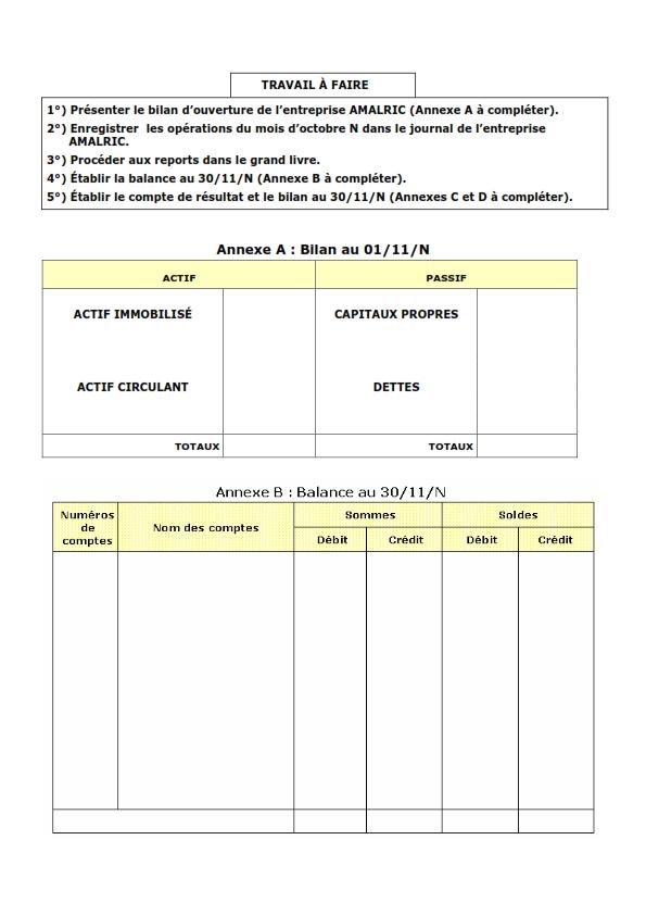 Exercice comptabilité générale corrigé: Présenter le bilan ...